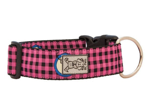 Wide Collar Modelo Pink Buffalo Plaid - Collar Extra Ancho para Perros