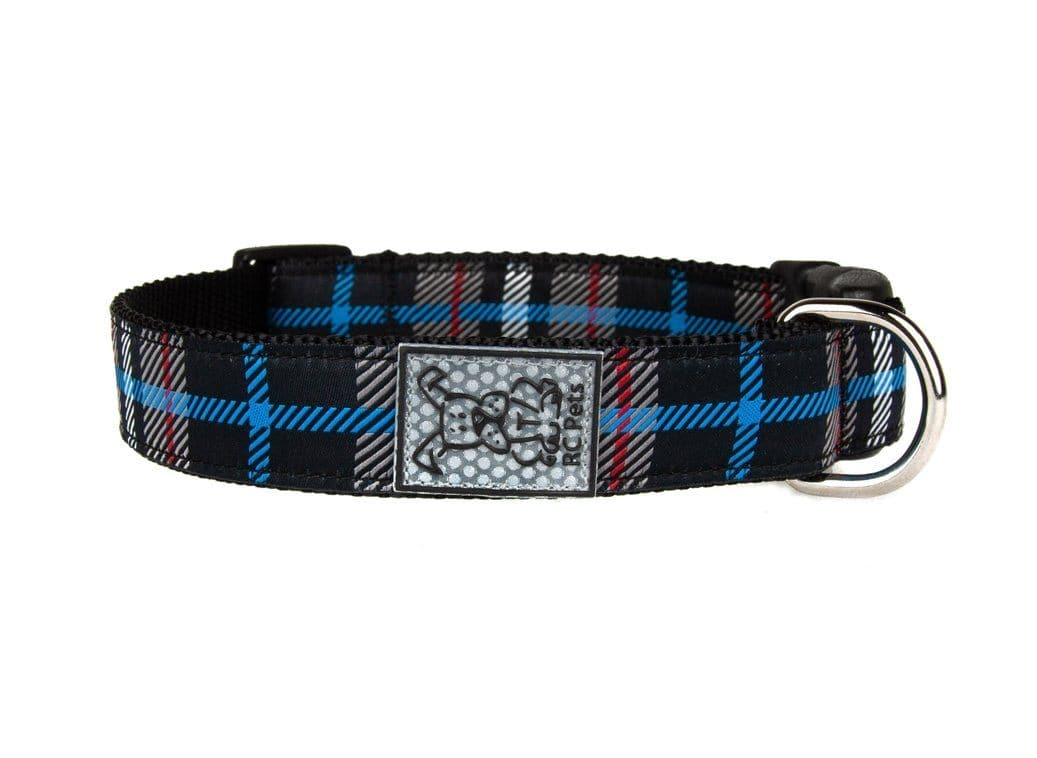 Clip Collar Para Perros Modelo Black Twill Plaid