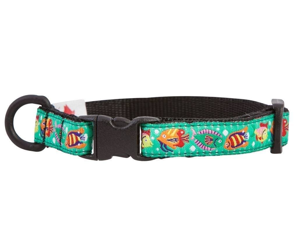 Collar de Seguridad Para Gatos - Kitty Breakaway Collar Tropical Fishes