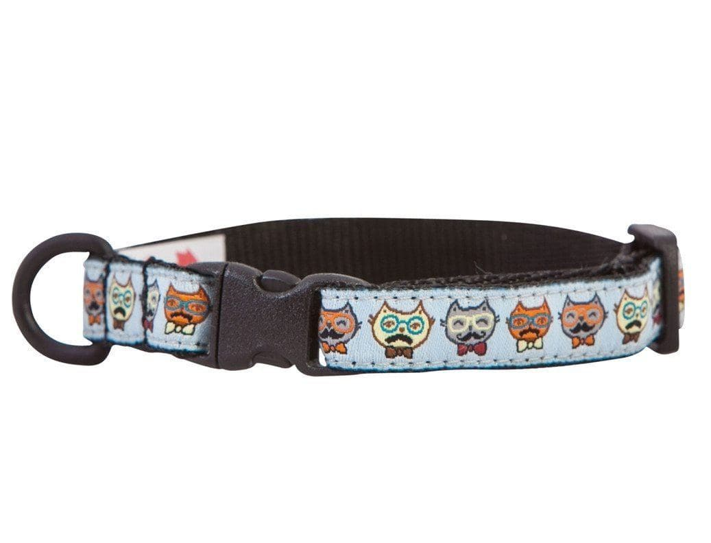 Collar de Seguridad Para Gatos - Kitty Breakaway Collar Meowstache