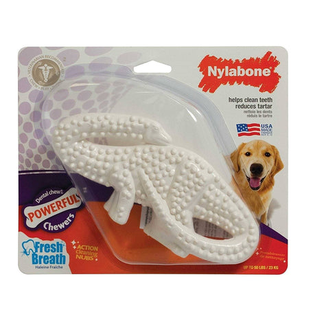Brontosaurus Dental de Nylon para Perros Aliento Fresco - Nylabone® Dental Chew