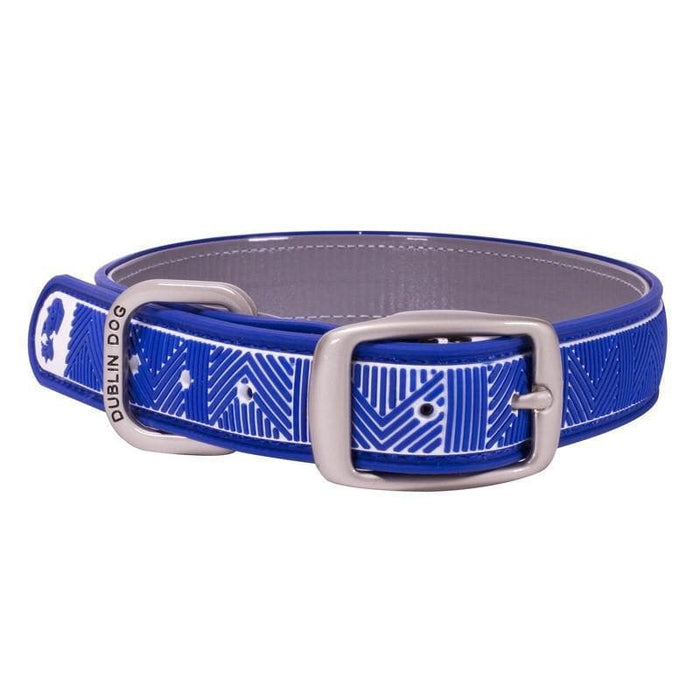 Collar Dublin Dog Chevron Atlantic Blue Waterproof - Collar para Perro