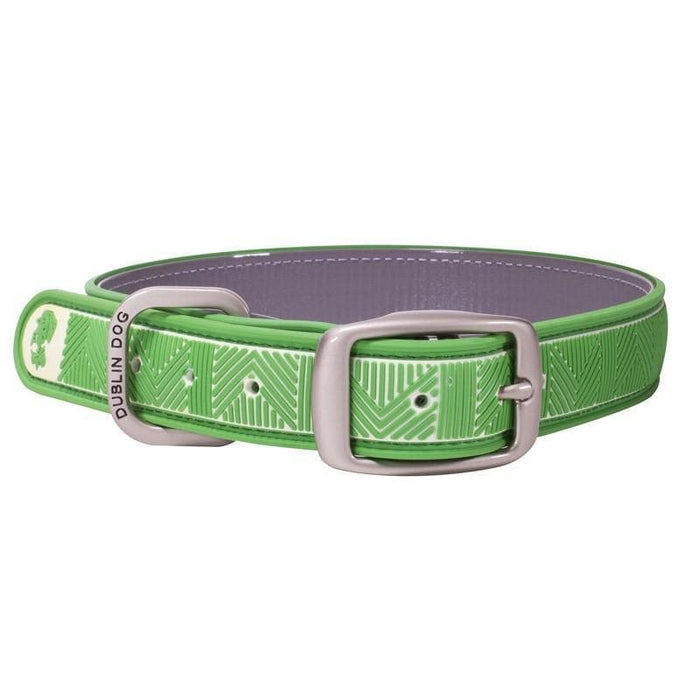 Collar Dublin Dog Chevron Maritime Green Waterproof - Collar para Perro