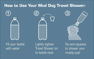 Regadera Portátil Para Perros Mud Dog Travel Shower de Kurgo