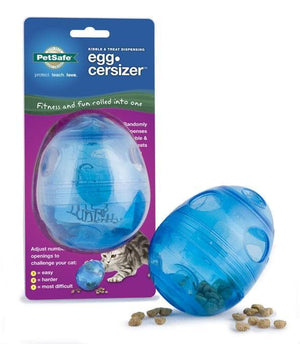 Comedero Interactico Egg-Cersizer Cat Toy de Pet Safe