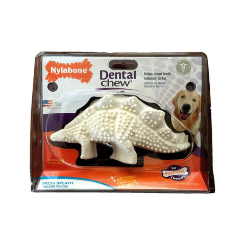 Stegosaurus Dental de Nylon para Perros Aliento Fresco - Nylabone® Dental Chew
