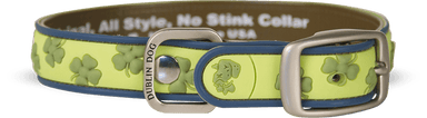 Collar Dublin Dog Azul Lot´s of Luck Gaelic Grunge  - Collar para Perro