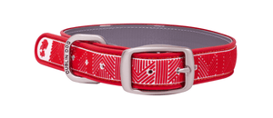 Collar Dublin Dog Chevron Nautical Red Waterproof - Collar para Perro