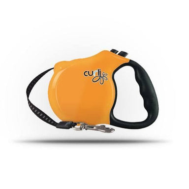Curli Retractable Leash Orange 5m - Correa Retráctil Naranja de 5m