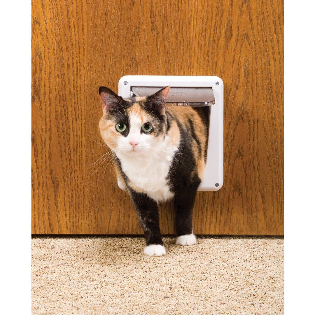 Puerta Interior Para Gatos - 4-Way Locking Cat Door de Pet Safe