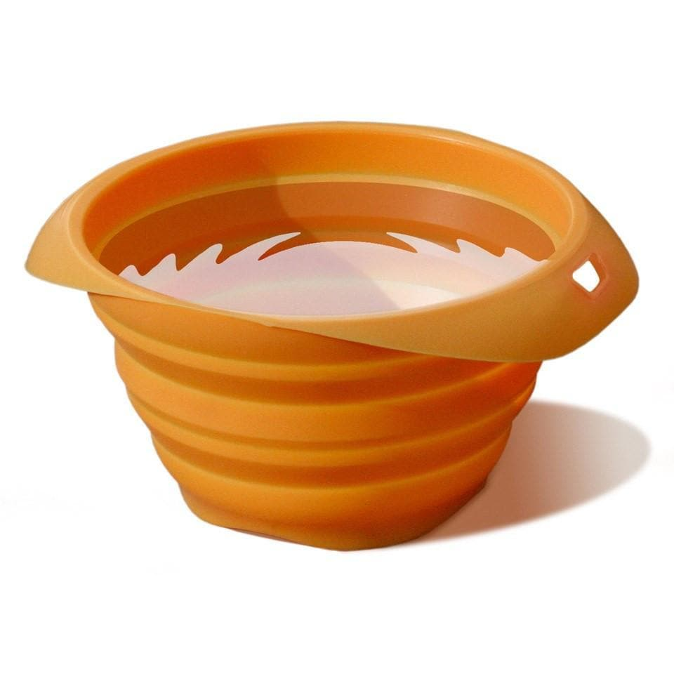 Plato Portatil Plegable Naranja Kurgo Collaps a Bowl