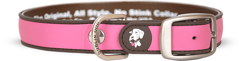 Collar Dublin Dog Rosa Simply Solid Waterproof - Collar para Perro