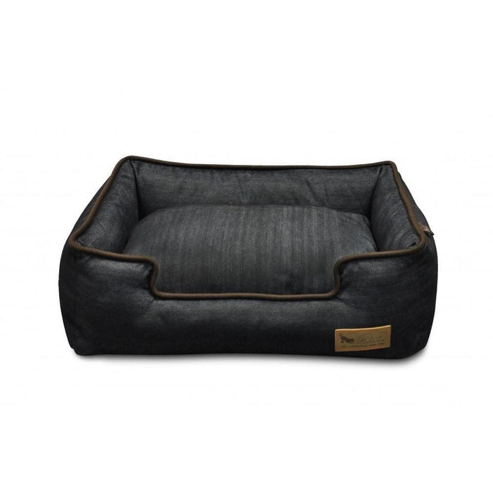 Cama Para Perros de Urban Denim Lounge Bed Contorno Chocolate de Pet P.L.A.Y.