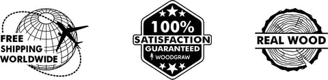 Free Shipping Worldwide, 100% Satisfaction Guarantee, Real wood - WOODGRAW