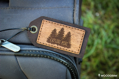 Explore More - Luggage Tag, Travel Tag, Leather Bag tag