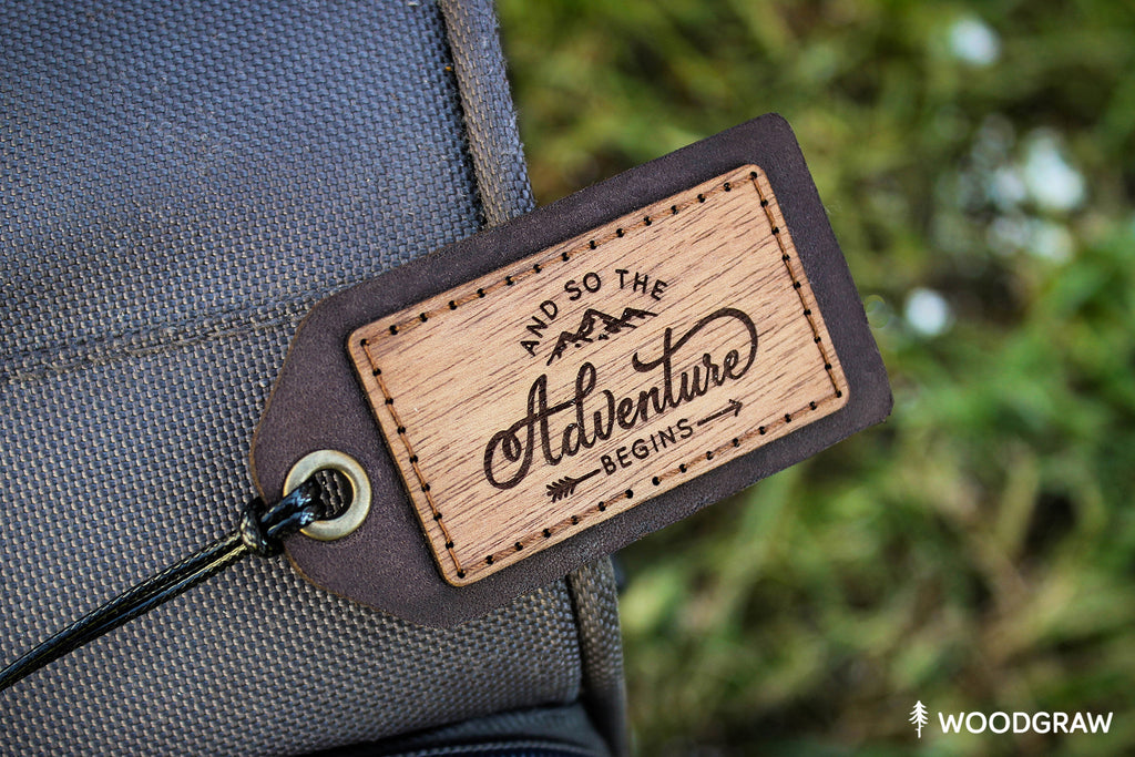 And so the Adventure Begins - Travel Tag, Luggage Tag
