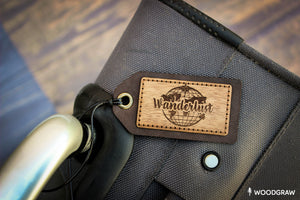 Wanderlust - Wooden Luggage Tag