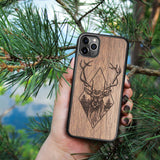 Wood iPhone Case 8 Plus Deer