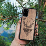 Wooden Galaxy Note 9 Case Deer