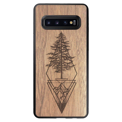 Wooden Case for Samsung Galaxy S10 Picea