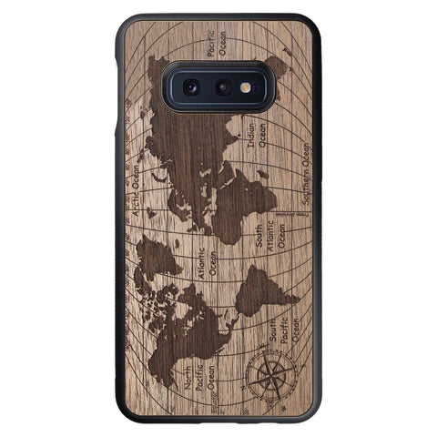 Wooden Case for Samsung Galaxy S10e World Map