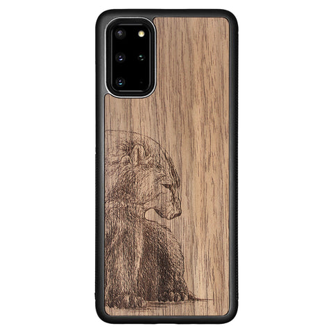 Wooden Case for Samsung Galaxy S20 Plus Bear