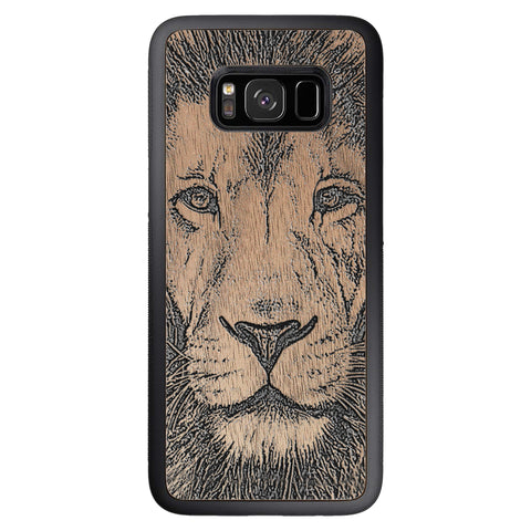 Wooden Case for Samsung Galaxy S8 Lion face