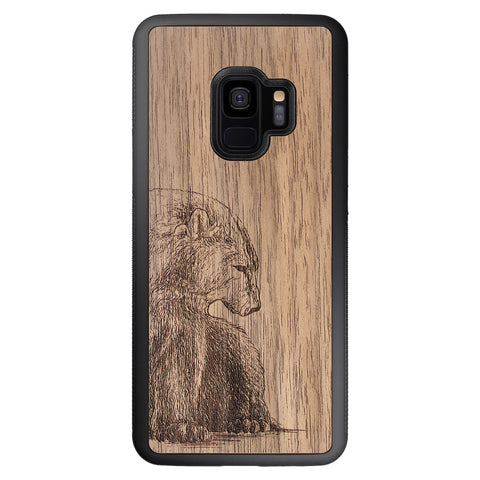 Wooden Case for Samsung Galaxy S9 Bear