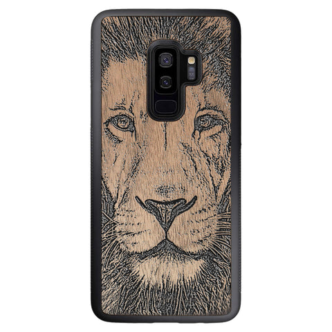 Wooden Case for Samsung Galaxy S9 Plus Lion face