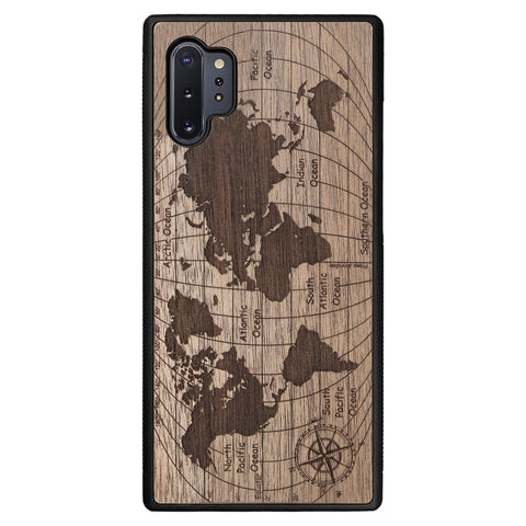 Wooden Case for Samsung Galaxy Note 10 Plus World Map