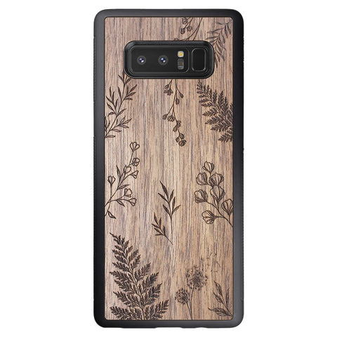 Wooden Case for Samsung Galaxy Note 8 Botanical