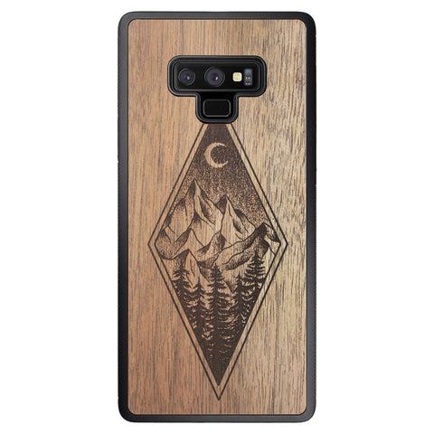 Wooden Case for Samsung Galaxy Note 9 Mountain Night