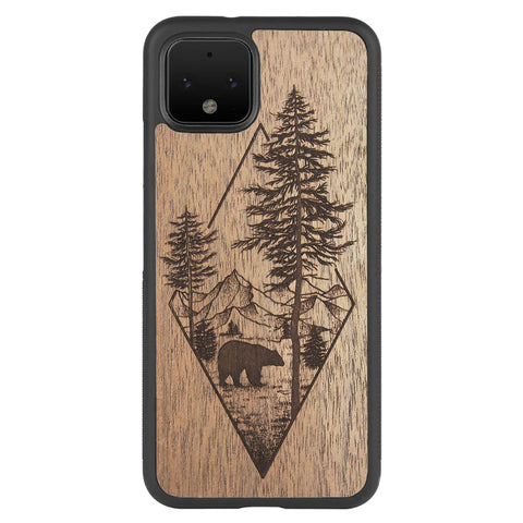 Wooden Case for Google Pixel 4 Woodland Bear