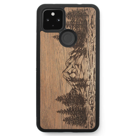 Wooden Case for Google Pixel 4A 5G Nature