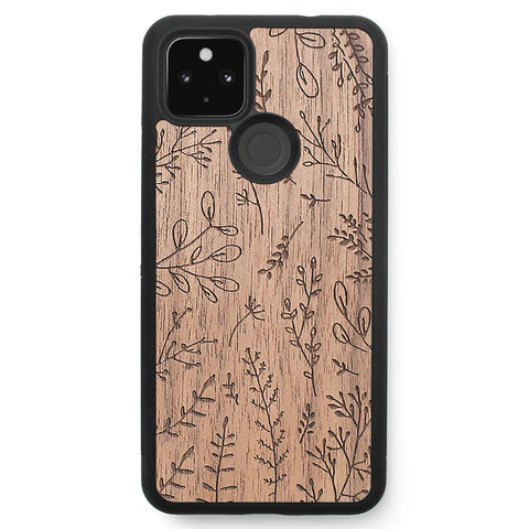 Wooden Case for Google Pixel 4A 5G Plants