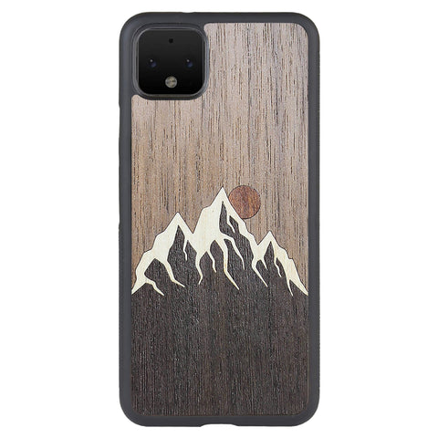 Wooden Case for Google Pixel 4 XL Mountain