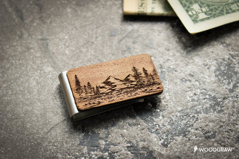 Nature - Wooden Money clip