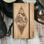Mountains - Wooden Notebook