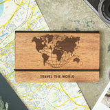 World Map - Travelers Notebook, Leather Journal