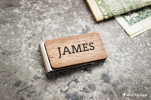 Personalized Wooden Money Clip