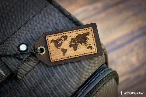 World Map - Luggage Tag, Travel Tag