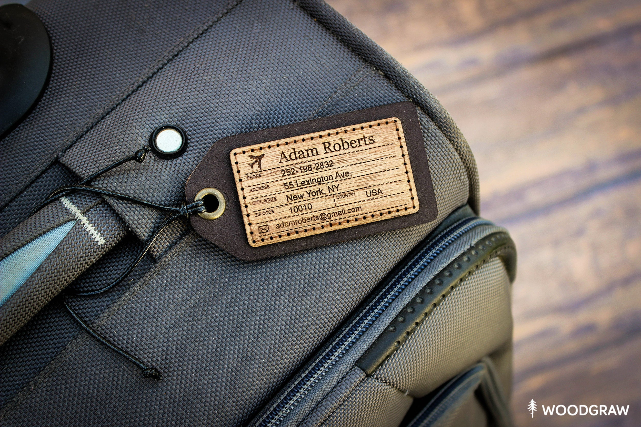 Travel the World - Leather Luggage Tag