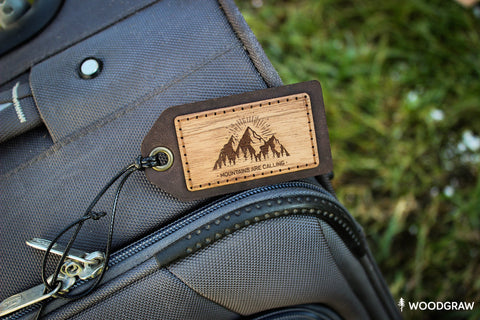 Mountains are Calling - Luggage Tag, Travel Tag