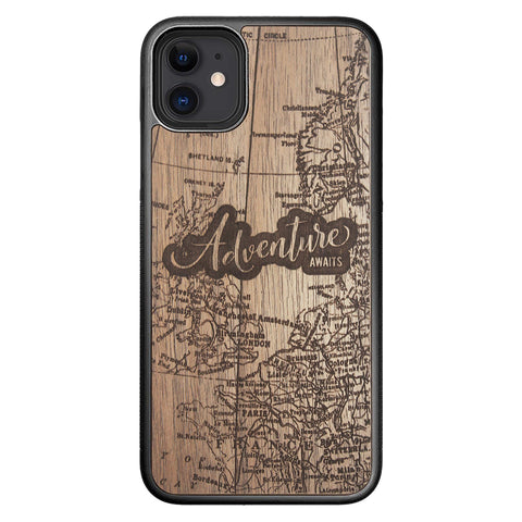 Wooden Case for iPhone 11 Adventure Awaits