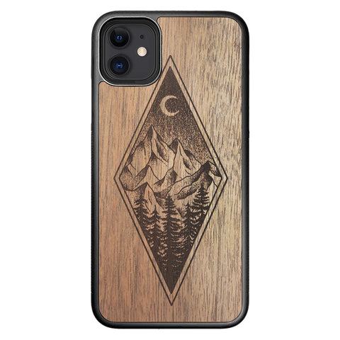 Wooden Case for iPhone 11 Mountain Night