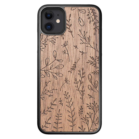 Wooden Case for iPhone 11 Plants