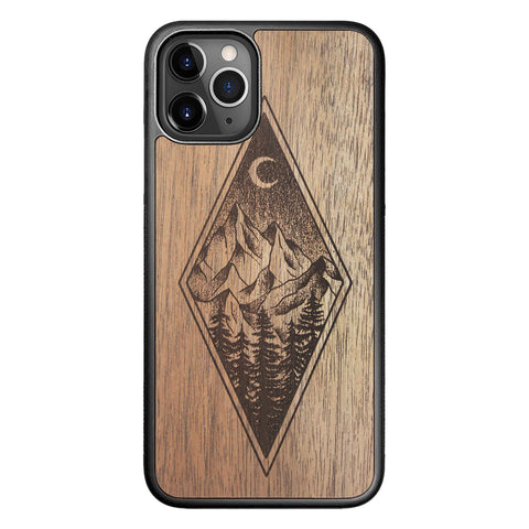 Wooden Case for iPhone 11 Pro Mountain Night