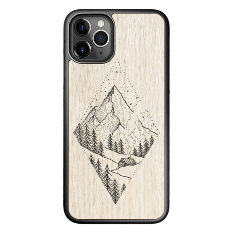Wooden Case for iPhone 11 Pro Winter Mountains