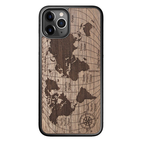 Wooden Case for iPhone 11 Pro World Map