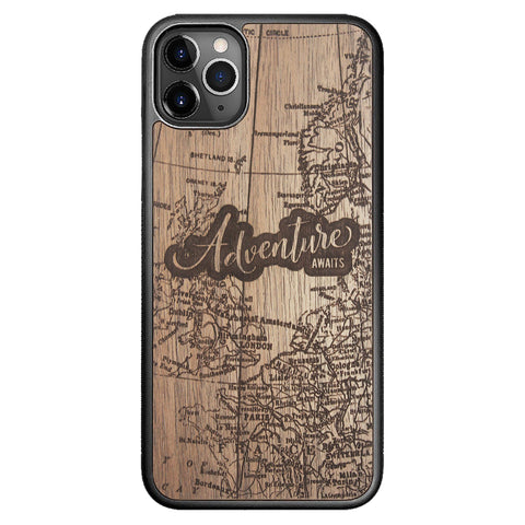 Wooden Case for iPhone 11 Pro Max Adventure Awaits
